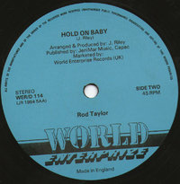 ROD TAYLOR hold me baby  - dub / TRISTON PALMA can't explain - version