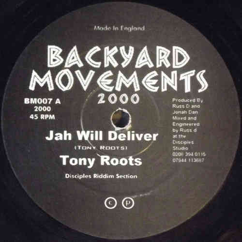 TONY ROOTS jah will deliver - dub / DANNY VIBES feel the vibes - dub