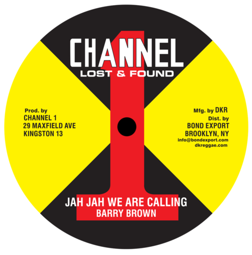 BARRY BROWN  jah jah we are calling - dub / take your time- dub