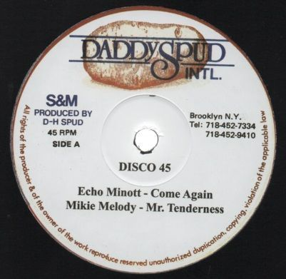 ECHO MINOTT come again - MIKIE MELODY mr tenderness / version