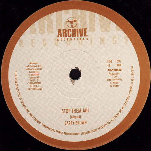 BARRY BROWN stop them jah / KING TUBBY stop them dub