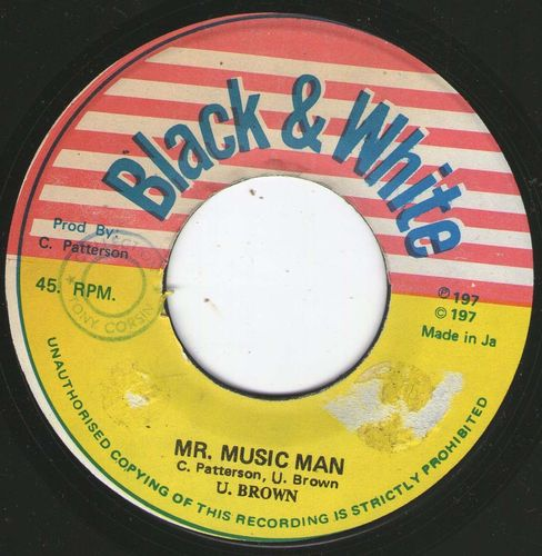 U BROWN mr music man / KING TUBBY'S bubble up