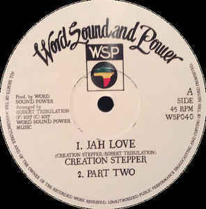 CREATION STEPPER jah love - dub / this man - dub