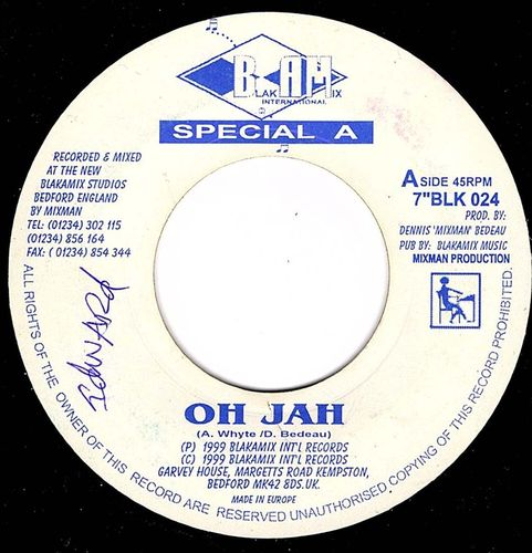 SPECIAL A oh jah / oh jah dub