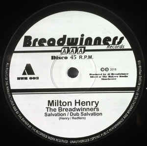 MILTON HENRY & THE BREADWINNERS salvation - dub / gold digger - dub