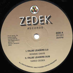 RONNIE DAVIS false leaders 2.0 - YARED ZEDEK dub / MAXIM BUTLER traveling - dub